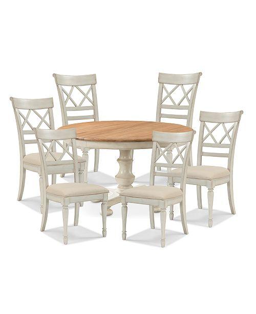 Wondrous Cottage Dining Furniture 7 Pc Set Table 6 Side Chairs Beutiful Home Inspiration Truamahrainfo