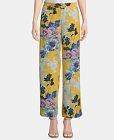 ECI Printed Wide-Leg Pants