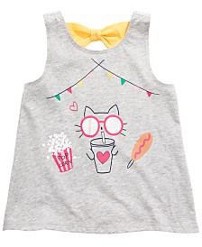 First Impressions Baby Girls Carnival Graphic Bow Tank Top, Created for Macy's