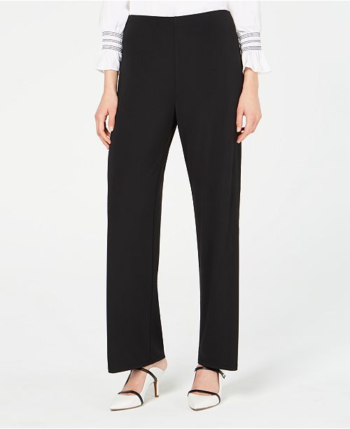 Alfani Solid Knit Pull-On Pants, Created for Macy's