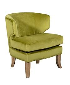 Elle Décor Marais Barrel Arm Chair, Quick Ship