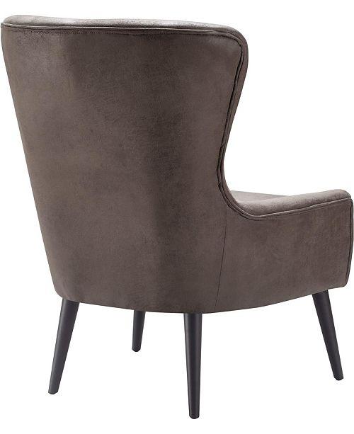 Elle Decor Elle Décor Modern Wingback Chair, Quick Ship