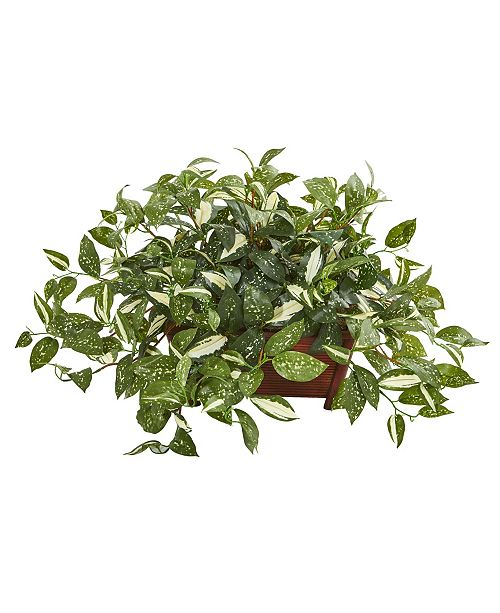 """Nearly Natural 28"""" Florida Beauty Artificial Plant in Rectangular Planter"""