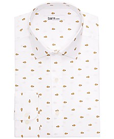 Men's Slim-Fit Clown Fish Printed Dress Shirt, Created for Macy's