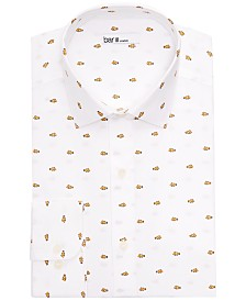 Bar III Men's Slim-Fit Clown Fish Printed Dress Shirt, Created for Macy's