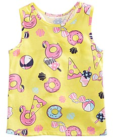 Toddler Girls Pizza-Print Tank Top, Created for Macy's