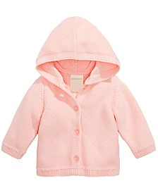 First Impressions Baby Girls Hooded Cotton Cardigan Sweater, Created for Macy's