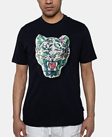 Men's Tropic Tiger Sequin Graphic T-shirt