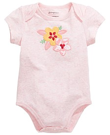 First Impressions Baby Girls Hibiscus Graphic Bodysuit, Created for Macy's