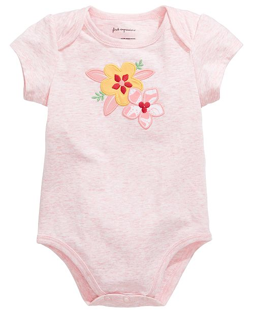 First Impressions First Impression's Baby Girl's Hibiscus Bodysuit, Created for Macy's