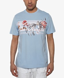 Sean John Men's Lamour Floral Graphic T-Shirt