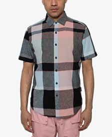 Sean John Men's Large Scale Plaid Shirt