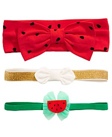 First Impressions Baby Girls 3-Pack Headbands, Created for Macy's