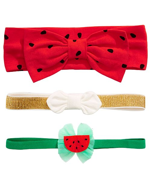 First Impressions First Impression's Baby Girl's Watermelon Headband Pack, Created for Macy's