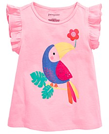 Baby Girls Parrot Graphic Flutter Top, Created for Macy's