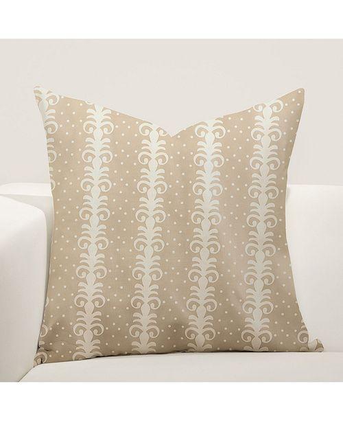 """Siscovers Nottingham Stripe 16"""" Designer Throw Pillow"""