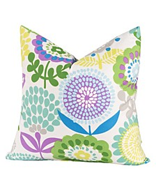 Pointillist Pansy Designer Throw Pillow