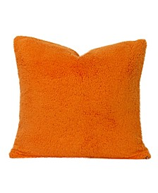 Playful Plush Outrageous Orange Designer Throw Pillow