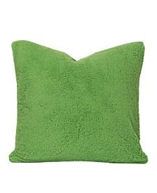 Playful Plush Jungle Green Designer Throw Pillow