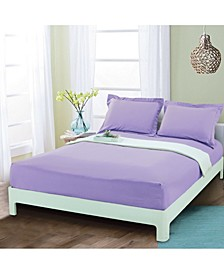 Silky Soft Single Fitted Sheet Full Lilac
