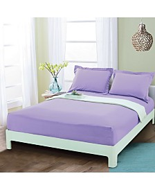 Elegant Comfort Silky Soft Single Fitted Sheet Full Lilac