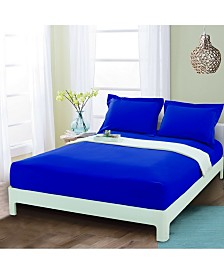 Elegant Comfort Silky Soft Single Fitted Set Queen Royal Blue