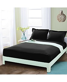 Elegant Comfort Silky Soft Single Fitted Set King Black