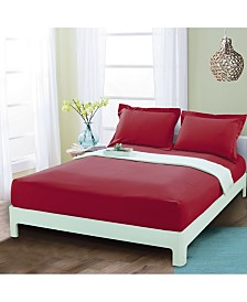 Elegant Comfort Silky Soft Single Fitted Set King Burgundy