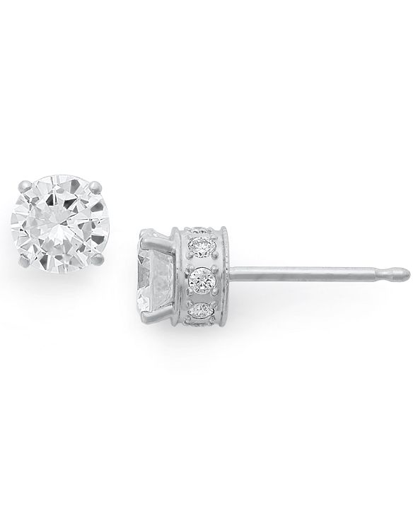 Macy's Diamond Filigree Stud Earrings in 14k White Gold (1-1/2 ct. t.w.)