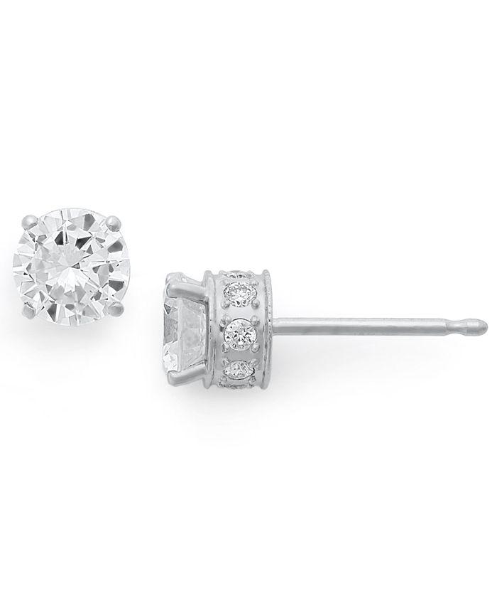 Macy's - Diamond Filigree Stud Earrings in 14k White Gold (1-1/2 ct. t.w.)