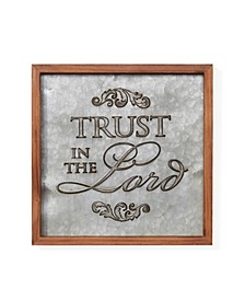 """""""Trust in the Lord"""" Framed Metal Art"""
