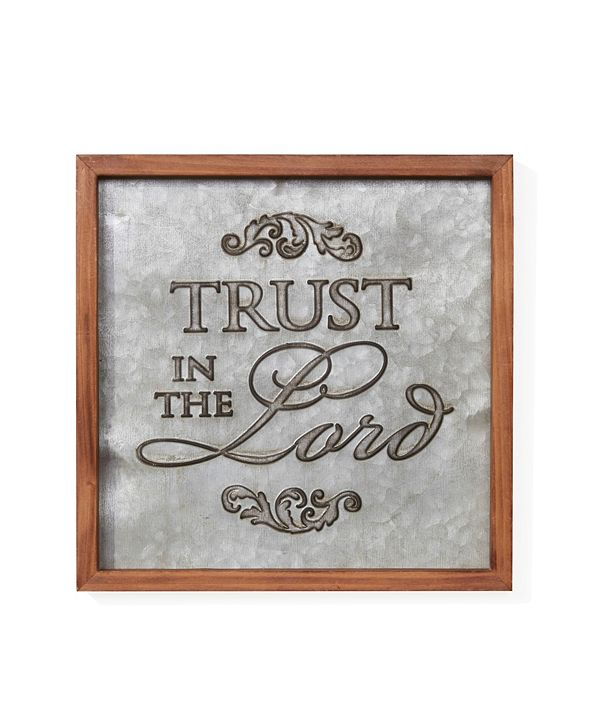 "Danya B ""Trust in the Lord"" Framed Metal Art"