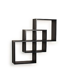 Danya B. Intersecting Squares Decorative Wall Shelf