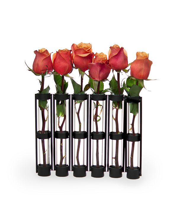 Danya B Six-Tube Hinged Vases on Rings Stands