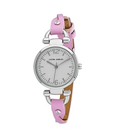 Purple Ladies' Dial Analog Display Twisted Band Round Watch