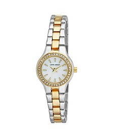 Gold Mini Link Crystal Bezel Bracelet Watch
