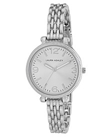 Ladies' Silvertone Link Bracelet Watch