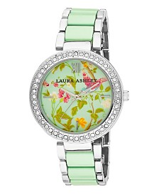Laura Ashley Ladies' Blue Band Summer Duck Egg Dial Watch
