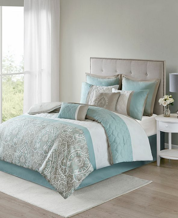 JLA Home 510 Design Shawnee Queen 8 Piece Comforter Set