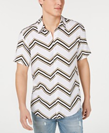 GUESS Men's Rogan Chevron Button-Down Shirt
