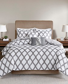 510 Design Jaclin King/California King 5 Piece Reversible Print Duvet Set