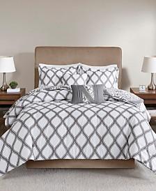 510 Design Jaclin King/California King 5 Piece Reversible Print Duvet Set
