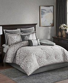 Madison Park Odette California King 8 Piece Jacquard Comforter Set
