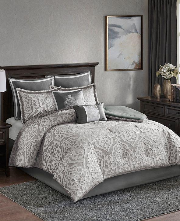 Madison Park Odette California King 8 Piece Jacquard Comforter Set