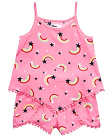 Little Girls 2-Pc. Rainbow-Print Tank Top & Shorts Set, Created for Macy's
