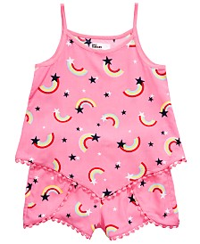 Epic Threads Toddler Girls 2-Pc. Rainbow-Print Tank Top & Shorts Set, Created for Macy's