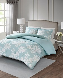 Madison Park Marian Full/Queen 3 Piece Cotton Printed Comforter Set