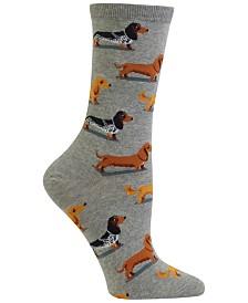 Hot Sox Women's Dachshunds Fashion Crew Socks