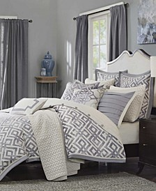 Madison Park Signature Stein Queen 8 Piece Comforter Set