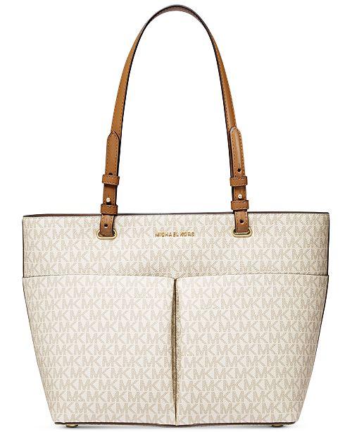 688971a002bcd1 Michael Kors Bedford Signature Pocket Tote & Reviews - Handbags ...